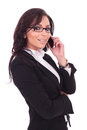 Business Woman Talking On Phone Stock Photo - 31160890