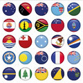 Set Of Australian, Oceania Round Flag Icons Stock Photography - 31169232