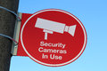 Security Cameras In Use Sign Royalty Free Stock Images - 31177519