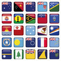 Set Of Australian, Oceania Squared Flag Icons Royalty Free Stock Photos - 31195318