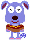 Dog With Hotdog Stock Images - 31197014