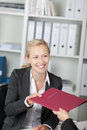 Businesswoman Receiving Application Map Stock Photography - 31203742