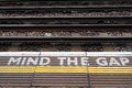 A View Of The Railway. Mind The Gap. Royalty Free Stock Photography - 31203747