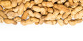 A Pile Of Raw Shelled Big Peanuts Closeup On White Background Stock Photo - 31204560