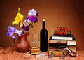 Flowers, Jewelry And Books Stock Photo - 31217130