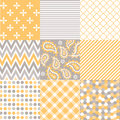 Seamless Patterns With Fabric Texture Stock Photography - 31248112
