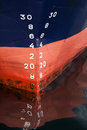 Bow Of The Cargo Ship With Draft Scale Numbering Stock Photos - 31266333