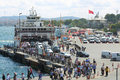 Ferry Came To The Pier And People Stock Photography - 31268112