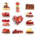Group Of Berry And Chocolate Desserts Royalty Free Stock Photo - 31269385