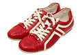 Red Leather Sneakers Royalty Free Stock Images - 31284769