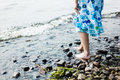 Girl Walking In Water Stock Images - 31299174