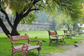 Red Bench Stock Photography - 3138452