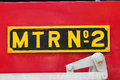 Number Plate On Steam Engine Stock Image - 31300251
