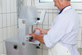 Big Lump Of Meat In The Mincing Machine Stock Images - 31303164