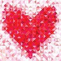 Seamless Love Pattern Of Geometric Heart Royalty Free Stock Images - 31307429