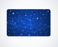 Business / Gift Card Template. Night Sky, Stars Stock Photo - 31312150