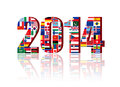 Worldwide Flags With 2014 Royalty Free Stock Photo - 31320475