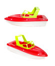 Beach Toy Speedboat Isolated On A White Background Stock Images - 31320724
