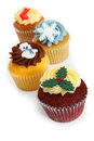 Cupcakes For Christmas Royalty Free Stock Photography - 31331737