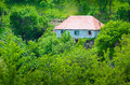 Isolated House In The Mountains Royalty Free Stock Photo - 31343875