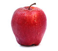 Red Apple With Water Drops  On White Stock Photos - 31347793