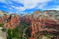 Wide Angle View Of Zion Canyon Royalty Free Stock Photos - 31347818