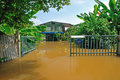 Flood Waters Overtake A House Royalty Free Stock Photo - 31356535