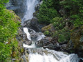 Waterfall Surrounded By Wooded Wilderness Stock Images - 31359284