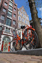 Amsterdam City With Bike In Holland Royalty Free Stock Images - 31359929
