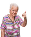 Old Woman Showing Ok Sign Royalty Free Stock Photography - 31361337