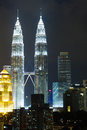 Petronas KLCC Twin Towers At Night Stock Image - 31370071