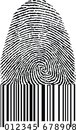 Finger Print As Barcode Stock Images - 31378124