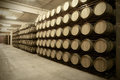 Wine Barrels In An Aging Cellar Royalty Free Stock Images - 31388099
