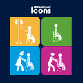 Wheelchair  Icons Stock Photography - 31392032