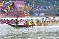 Langsuan Traditional Long Boat Racing Festival, Thailand Royalty Free Stock Photos - 31394088