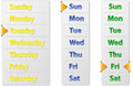 Set Abstract Weekly Calendars With Arrow Pointer Stock Image - 31397511