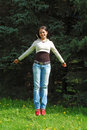 Young Beautiful Girl Jumping Stock Images - 3145214