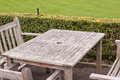 Bench And Table In A Park Royalty Free Stock Image - 31401626