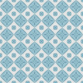 Seamless Pattern With Geometric Diamond Shapes And Flowers. Royalty Free Stock Photos - 31407408