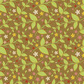 Seamless Floral Pattern With Geometric Stylized Leaves And Flowers. Royalty Free Stock Images - 31407439