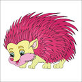Pink Hedgehog. The Character For Children. Royalty Free Stock Photos - 31412558