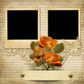 Vintage Gorgeous Background With A Polaroid-frames And A Roses Stock Photos - 31425413