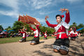 Traditional Thai Dancing In Rocket Festival  Boon Bang Fai  Stock Photos - 31435353