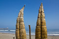 Traditional Reed Fishing Boats,Peru Stock Images - 31441584