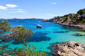 Moored Yachts In Cala Fornells, Majorca Stock Photography - 31446332