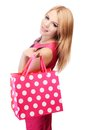Pretty Woman With Shopping Bags Isolated On White Stock Images - 31453774