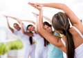 People Doing Yoga Royalty Free Stock Images - 31458239