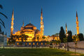 View Of The Blue Mosque At Night In Istanbul, Turkey Stock Image - 31473821