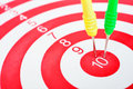 Arrows Dart Hitting The Center Of A Target Stock Image - 31485371