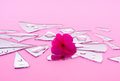 Shattered Romance In Pink Pieces Stock Images - 31505364